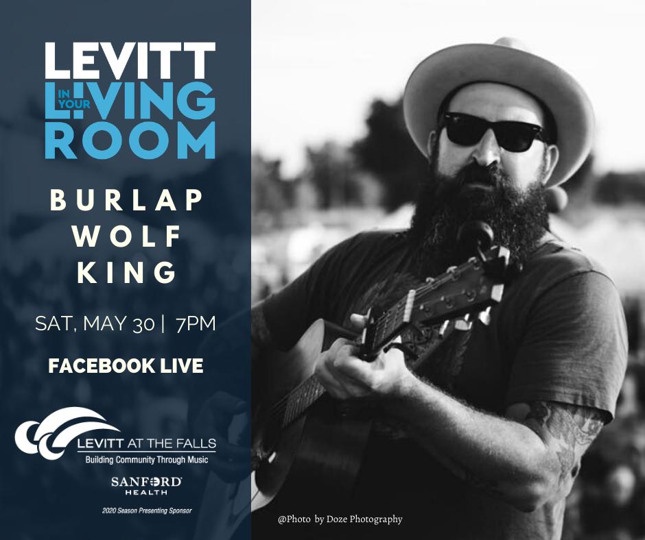 Burlap Wolf King | Levitt in Your Living Room