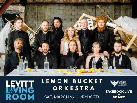 lemon bucket orkestra on levitt in your living room