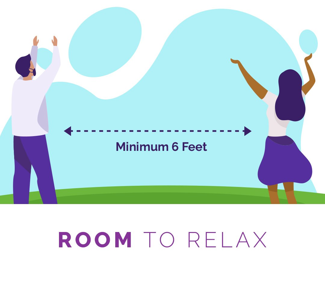 room to relax (6 ft. apart)
