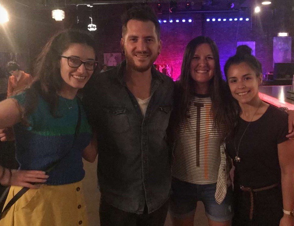 alyssa at concert with friends