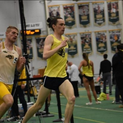 Evan Johnson running