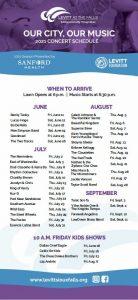 Levitt 2021 Full Concert Schedule
